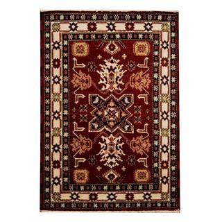 Handmade One-of-a-Kind Kazak Wool Rug (India) - 4'10 x 6'11