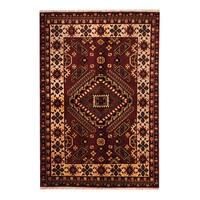 Herat Oriental Indo Hand-knotted Tribal Kazak Wool Rug (5'6 x 8'2) - 5'6 x 8'2
