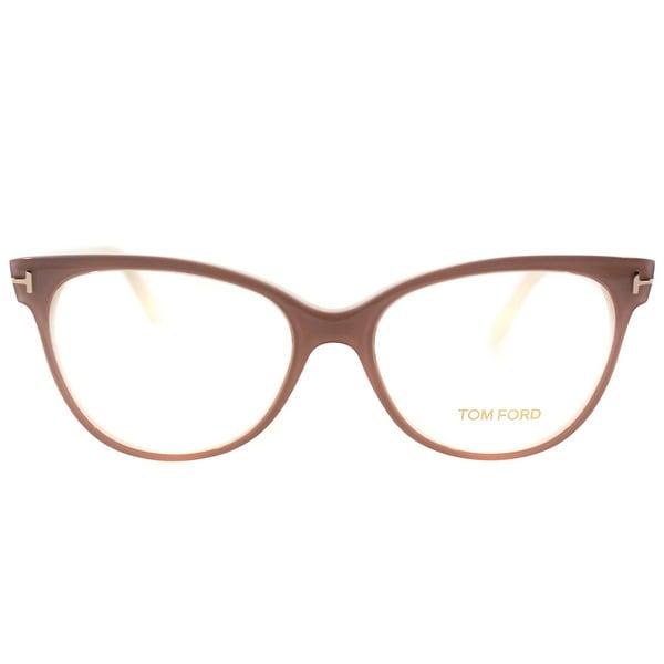 64665314f7 Tom Ford Womens FT 5291 074 Vintage Pink Plastic Cat Eye Eyeglasses