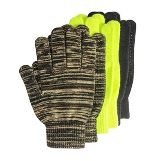 Grip Dot Assorted Gloves (Pack of 3 pairs)