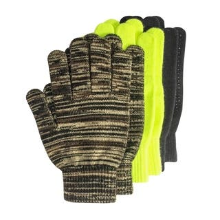 Grip Dot Assorted Gloves (Pack of 3 pairs)|https://ak1.ostkcdn.com/images/products/10352774/P17461623.jpg?impolicy=medium