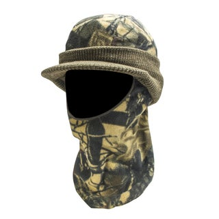 Knit Fleece Visor with Drop Down Mask
