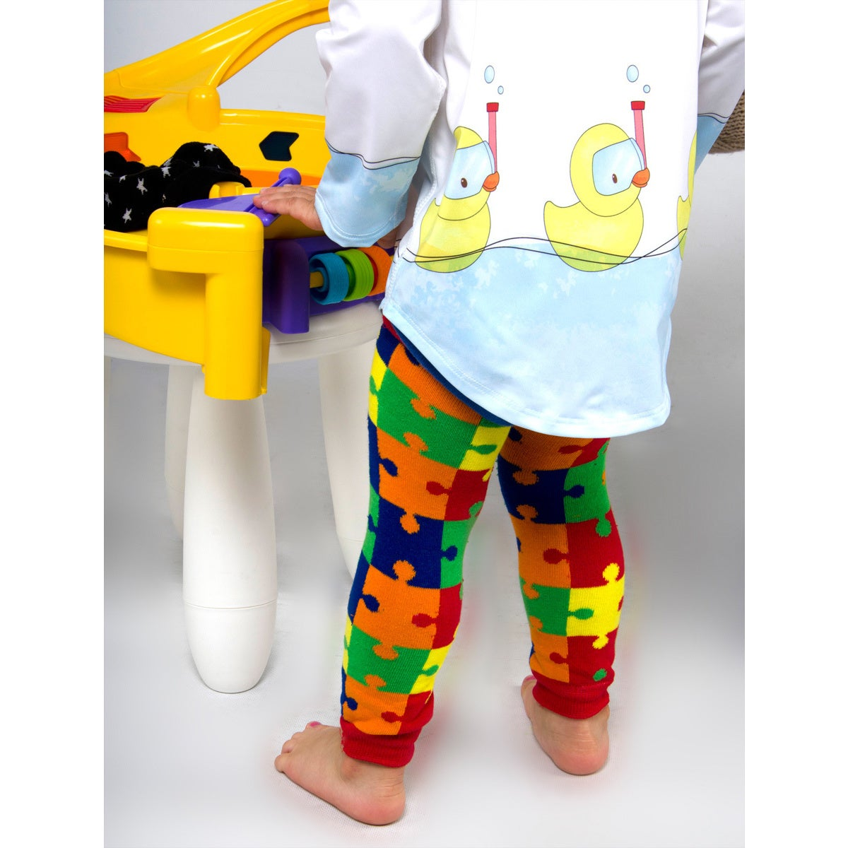 Crummy Bunny Autism Awareness Leg Warmers (Set of 4) (Leg...