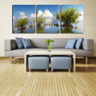 Ready2HangArt Bruce Bain 'Perceived Surroundings' 3-pc Canvas Art Set