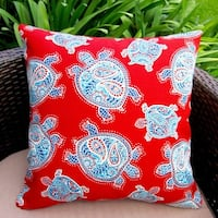 Outdoor 18-inch Kids Red Sea Turtles Throw Pillow Cover (Set of 2)