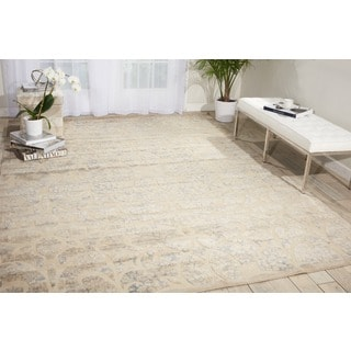 Nourison Graphic Illusions Beige/Sand Rug (5'3 x 7'5)