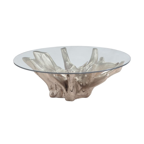 Root Coffee Table For Sale: Shop LS Dimond Home Champagne Teak Root Coffee Table