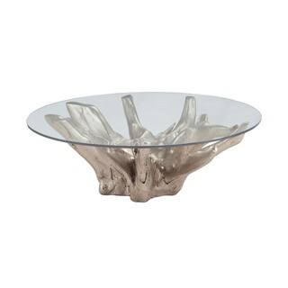 LS Dimond Home Champagne Teak Root Coffee Table