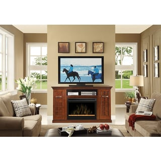 Yardley Media Console Electric Fireplace with 33-inch Firebox with Glass Media Ember Bed