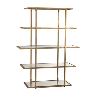 LS Dimond Home Gold Leaf Frame Shelf
