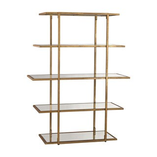 LS Dimond Home Gold Leaf Frame Shelf