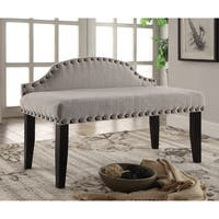Clay Alder Home Gerald 42-inch Flax Upholstered Accent Bench