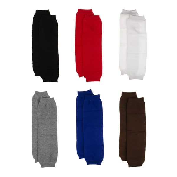 Crummy Bunny Unisex Toddler Basic Colors Leg Warmers Leggings Set Basic Colors (Set of 6)
