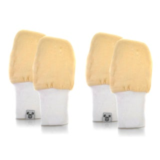 Crummy Bunny No Scratch Yellow Cotton Baby Mittens (Set of 2)
