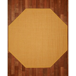 Roma (7' x 7') with Bonus Rug Pad Octagon Sisal Rug - Tan with Bonus Rug Pad
