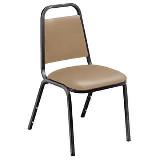 Standard Beige Vinyl-upholstered Stack Chair Packs