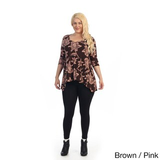 Ella Samani Women's Plus Size Floral Top