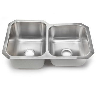 Designer Collection 60/ 40 Stainless Steel Double Bowl Kitchen Sink