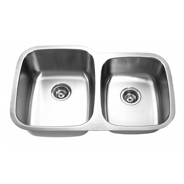 Designer Stainless Steel Sinks : Designer Collection Double Bowl 60/ 40 Stainless Steel Kitchen Sink ...