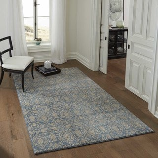 Brighton Delicate Floral Machine-Made Rug (2'x3')