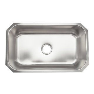 Designer Collection Extra Large Stainless Steel Single Bowl Kitchen Sink