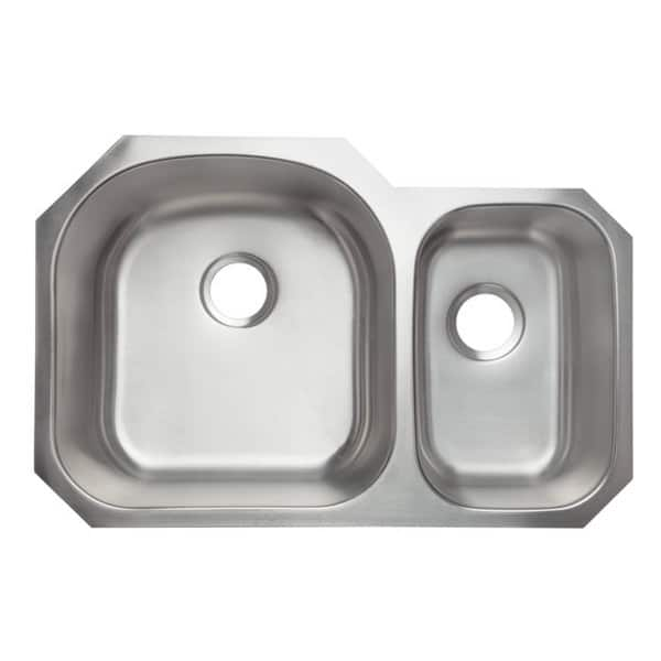 Designer Collection Stainless Steel Double Bowl 70 30 Kitchen Sink On Sale Overstock 10353135