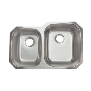 Designer Collection Stainless Steel 60/ 40 Double Bowl Kitchen Sink
