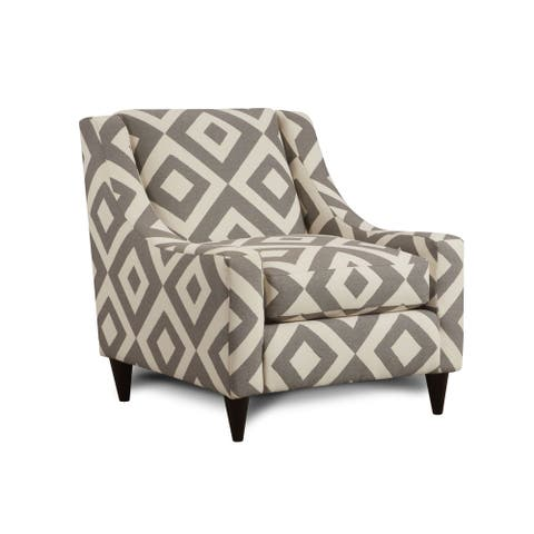 Furniture of America Cara Contemporary Grey Fabric Padded Armchair