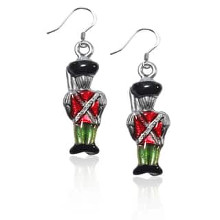 Sterling Silver Nutcracker Charm Earrings|https://ak1.ostkcdn.com/images/products/10353191/P17461995.jpg?impolicy=medium
