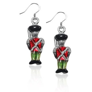 Sterling Silver Nutcracker Charm Earrings