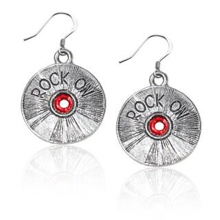 Sterling Silver Rock on CD Charm Earrings