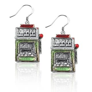 Sterling Silver Slot Machine Charm Earrings|https://ak1.ostkcdn.com/images/products/10353224/P17462006.jpg?impolicy=medium