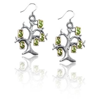 Sterling Silver Money Tree Charm Earrings