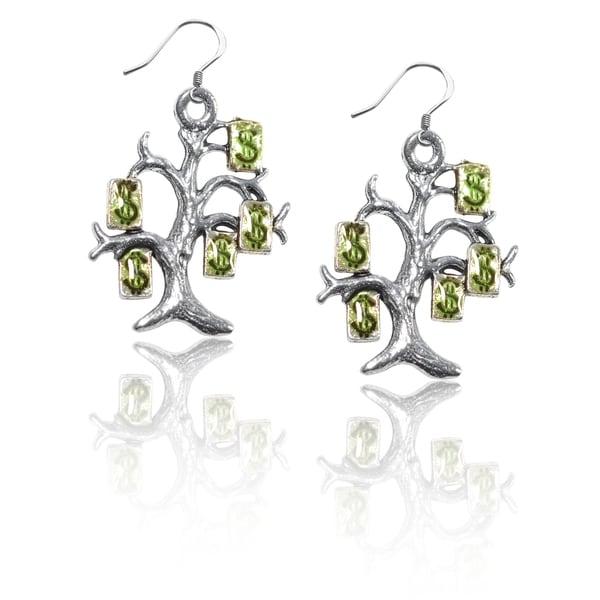 Sterling Silver Money Tree Charm Earrings