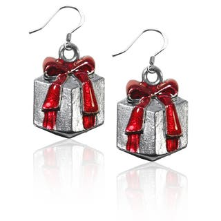 Sterling Silver Christmas Present Charm Earrings|https://ak1.ostkcdn.com/images/products/10353232/P17462001.jpg?impolicy=medium