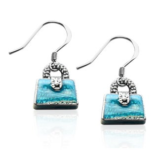 Sterling Silver Purse Charm Earrings