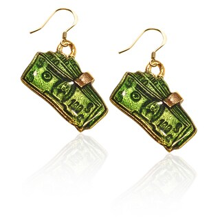 Gold over Silver Money Clip with Money Charm Earrings