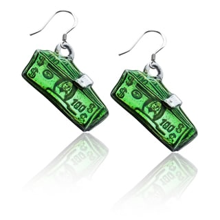 Sterling Silver Money Clip with Money Charm Earrings
