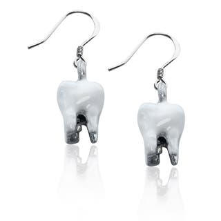 Sterling Silver Tooth Charm Earrings|https://ak1.ostkcdn.com/images/products/10353267/P17462043.jpg?impolicy=medium