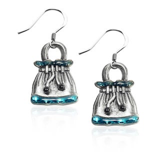 Sterling Silver Drawstring Purse Charm Earrings