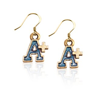 Gold over Silver A+ Charm Earrings