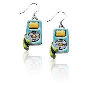 Sterling Silver iPod Charm Earrings