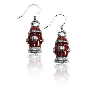 Sterling Silver Fire Hydrant Charm Earrings
