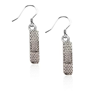 Sterling Silver Band Aid Charm Earrings