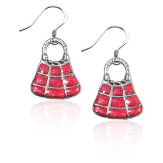 Sterling Silver Tic-Tac-Toe Purse Charm Earrings
