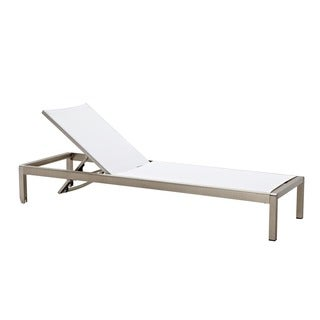 Jardin Outdoor Chaise Lounge in White