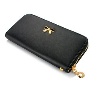 Gearonic Women's Bow Detail Clutch Wallet