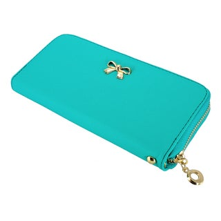 Gearonic Women's Bow Detail Clutch Wallet