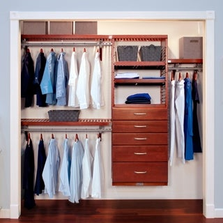 John Louis 5-drawer Red Mahogany Deluxe Closet Organizer