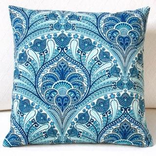 Artisan Pillows Outdoor 18-inch Tommy Bahama Fabric Blue Beach Riptide Modern Geometric Coastal Throw Pillow (Set of 2)